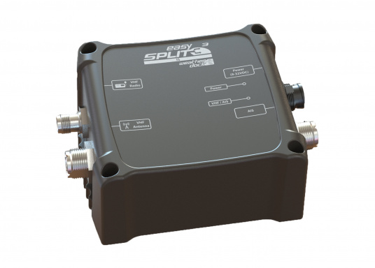 UKW Antennensplitter für die gleichzeitige Nutzung von Ihrem AIS Sende/Empfänger und Ihrem UKW Funkgerät an einer einzigen Antenne.