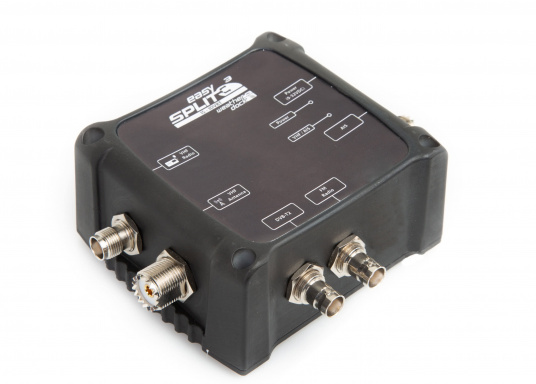 Multifunktionaler UKW Antennensplitter easySPLIT3-IS-IDVBT von weatherdock für die Auftrennung von UKW Sprechfunk, AIS und DVB-T2, FM Radio sowie DAB+ Signalen. (Bild 2 von 8)