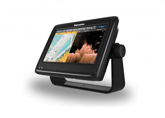 Raymarine's a98 WiFi multifunction display offers the speed and simplicity of LightHouse II in a fast and fluid touch screen experience. With extensive networking options, it will put you in control of charts, sonar, radar and more. The included CPT-100DVS transom transducer provides photorealistic underwater images. (Image 7 of 11)