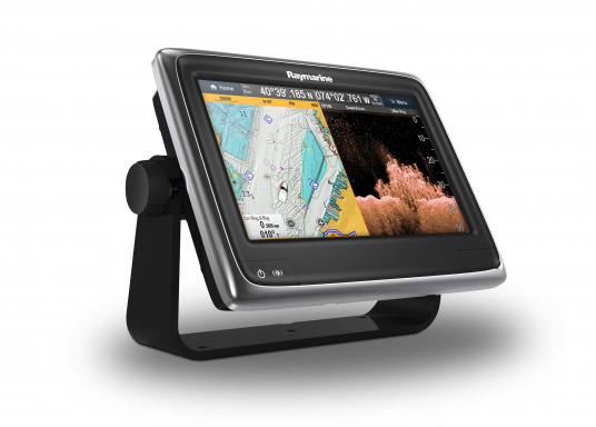 Raymarine's a98 WiFi multifunction display offers the speed and simplicity of LightHouse II in a fast and fluid touch screen experience. With extensive networking options, it will put you in control of charts, sonar, radar and more. The included CPT-100DVS transom transducer provides photorealistic underwater images. (Image 9 of 11)