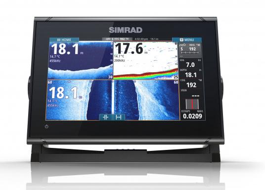 Das Simrad GO9 XSE Kartenplotter-Navigationsdisplay eignet sich optimal zur Funktionserweiterung auf Sportbooten, Kreuzfahrtschiffen und in kleineren Mittelkonsolen mit Plug-and-Play-Unterstützung für Simrad Broadband Radar™ und Halo™ Pulskompressions-Radarsystemen. Lieferung inklusive Active Imaging-Geber. (Bild 3 von 10)