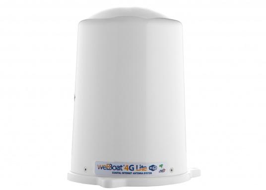 Mit der WiFi-Antenne weBBoat® 4G Lite von Glomex surfen Sie jetzt noch preiswerter im Internet. Die weBBoat 4G Lite vereint 4G, 3G und WiFi in einem System. Profitieren Sie von einer leichten Installation und Einrichtung sowie die automatische Umschaltung zwischen der Nutzung von WLAN und Mobilfunkdaten. (Bild 2 von 11)