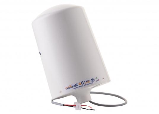 Mit der WiFi-Antenne weBBoat® 4G Lite von Glomex surfen Sie jetzt noch preiswerter im Internet. Die weBBoat 4G Lite vereint 4G, 3G und WiFi in einem System. Profitieren Sie von einer leichten Installation und Einrichtung sowie die automatische Umschaltung zwischen der Nutzung von WLAN und Mobilfunkdaten. (Bild 10 von 11)