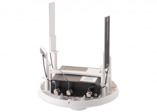 Mit der WiFi-Antenne weBBoat® 4G Lite von Glomex surfen Sie jetzt noch preiswerter im Internet. Die weBBoat 4G Lite vereint 4G, 3G und WiFi in einem System. Profitieren Sie von einer leichten Installation und Einrichtung sowie die automatische Umschaltung zwischen der Nutzung von WLAN und Mobilfunkdaten. (Bild 3 von 11)