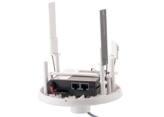 Mit der WiFi-Antenne weBBoat® 4G Lite von Glomex surfen Sie jetzt noch preiswerter im Internet. Die weBBoat 4G Lite vereint 4G, 3G und WiFi in einem System. Profitieren Sie von einer leichten Installation und Einrichtung sowie die automatische Umschaltung zwischen der Nutzung von WLAN und Mobilfunkdaten. (Bild 4 von 11)
