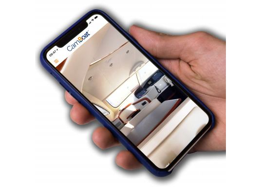 With the Glomex CamBoat WiFi surveillance camera, you can remotely monitor your surroundings from any location, at any time. This ensures safety, peace of mind and privacy throughout. (Imagen 4 de 9)
