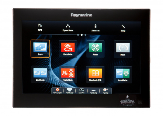 The Raymarine Glass Bridge series is a powerful chartplotter in an elegant design. The gS165 multifunction display features a fast dual-core processor and a third graphics processor for exceptionally fast image composition. The integrated WiFi and Bluetooth module allows you to connect the chartplotter to a variety of devices. (Imagen 6 of 18)