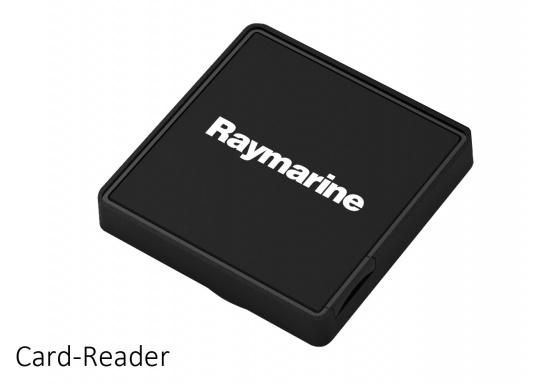 The Raymarine Glass Bridge series is a powerful chartplotter in an elegant design. The gS165 multifunction display features a fast dual-core processor and a third graphics processor for exceptionally fast image composition. The integrated WiFi and Bluetooth module allows you to connect the chartplotter to a variety of devices. (Imagen 10 of 18)