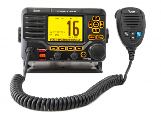 Das hochwertige UKW-Marinefunkgerät IC-M506GE von ICOM verfügt über einen integrierten GPS- und AIS-Empfänger und überzeugt mit hervorragenden Funktionen, die Ihnen die Kommunikation auf dem Wasser vereinfachen.NMEA2000-Konnektivität.