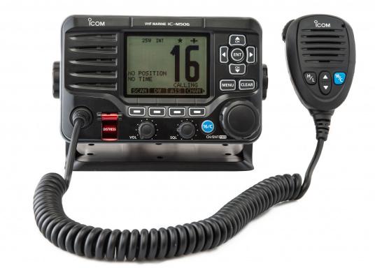 Das hochwertige UKW-Marinefunkgerät IC-M506GE von ICOM verfügt über einen integrierten GPS- und AIS-Empfänger und überzeugt mit hervorragenden Funktionen, die Ihnen die Kommunikation auf dem Wasser vereinfachen.NMEA2000-Konnektivität. (Bild 2 von 5)