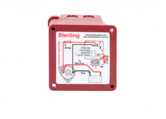 ​Protect your alternator with the Pro Protect A alternator protection switch from STERLING. The switch is activated at the exact moment when there are no more electrical consumers, but the alternator is still producing electricity.  (Afbeelding 3 of 3)