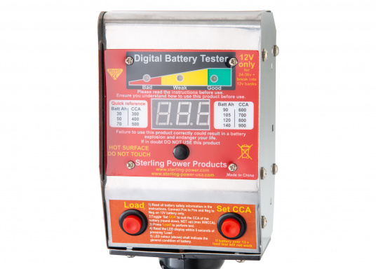 This digital battery tester not only measures the voltage, but can also perform a load test to check that the battery is working properly. (Imagen 3 of 4)