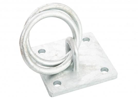 Der Mooring verfügt über zwei Ringe und besteht aus stabilen verzinkten Stahl. (Bild 2 von 4)