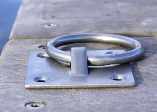 Mooring-Ring aus Edelstahl in flacher Ausführung. (Bild 4 von 5)