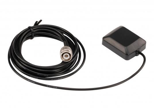 Passive GPS-Antenne für Ihren AIS-Transponder von AMEC. Die Antenne verfügt über ein RG174-Anschlusskabel (Länge: 3 m) sowie einen TNC-Stecker. (Bild 2 von 3)