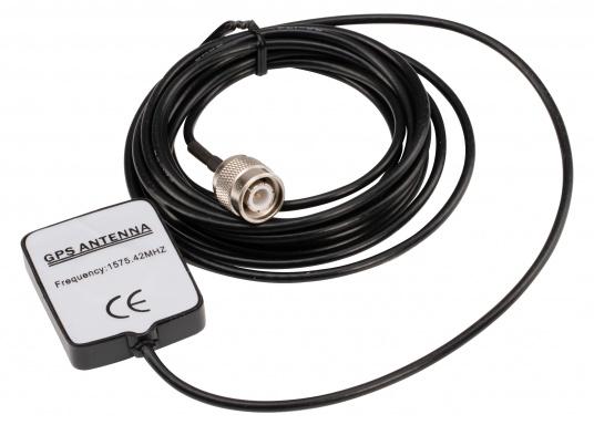 Passive GPS-Antenne für Ihren AIS-Transponder von AMEC. Die Antenne verfügt über ein RG174-Anschlusskabel (Länge: 3 m) sowie einen TNC-Stecker. (Bild 3 von 3)