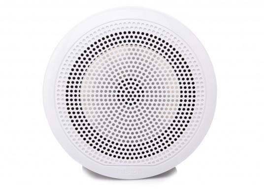 Die neu konzipierten Marine-Lautsprecher EL-F651 von FUSION wurden bieten eine hochwertige Audiowiedergabe und sind optiomal für maritime Umgebungen geeignet. Das flache Design bietet eine Vielzahl an Montagemöglichkeiten. Farbe: weiß.