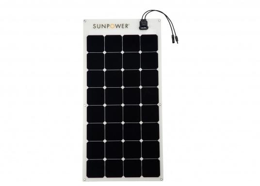 Le panneau solaire semi-flexible SUNPOWER SPR-E-FLEX-110 est doté de cellules photovoltaïquesMaxeon® à contact arrière de hautes performances.Résistant à la corrosion, stratifié dans un matériau polymère de grande qualité, ce panneau de conception robuste a un très bon rendement Il est léger, ployable 30%, facile à installer et à câble.