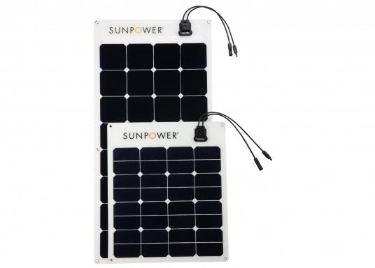 Le panneau solaire semi-flexible SUNPOWER SPR-E-FLEX-110 est doté de cellules photovoltaïquesMaxeon® à contact arrière de hautes performances.Résistant à la corrosion, stratifié dans un matériau polymère de grande qualité, ce panneau de conception robuste a un très bon rendement Il est léger, ployable 30%, facile à installer et à câble. (Image 3 de 6)
