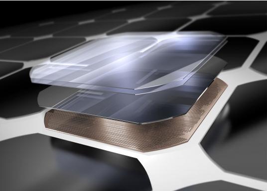 Le panneau solaire semi-flexible SUNPOWER SPR-E-FLEX-110 est doté de cellules photovoltaïquesMaxeon® à contact arrière de hautes performances.Résistant à la corrosion, stratifié dans un matériau polymère de grande qualité, ce panneau de conception robuste a un très bon rendement Il est léger, ployable 30%, facile à installer et à câble. (Image 2 de 5)