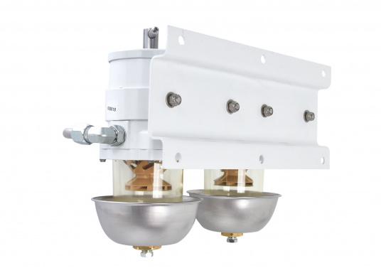 Die qualitativ hochwertigen Doppel-Turbinenfilter von Racor dienen als Vorfilter und verfügen über einen Wasserabscheider. Erhältlich als 500er, 900er und 1000er Doppel-Turbinefilter. (Bild 2 von 3)