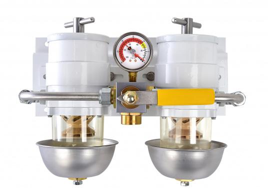 Die qualitativ hochwertigen Doppel-Turbinenfilter von Racor dienen als Vorfilter und verfügen über einen Wasserabscheider. Erhältlich als 500er, 900er und 1000er Doppel-Turbinefilter.