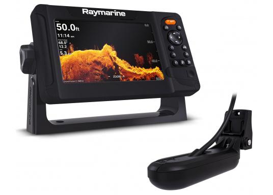 """Smartes 7""""-Multifunktionsdisplay mit benutzerfreundlicher Bedienoberfläche und integrierter GPS-Antenne. Eine klassische Tastenbedienung und die Raymarine LightHouse Sport Oberfläche sorgen für eine intuitive Bedienung des Geräts. Mit eingebauter HyperVision-Sonartechnologie für eine herausragende Bildqualität der Unterwasserwelt. Lieferung inklusive HV-100 Geber."""