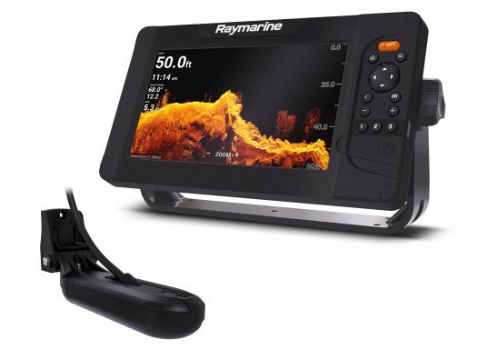 """Smartes 9""""-Multifunktionsdisplay mit benutzerfreundlicher Bedienoberfläche und integrierter GPS-Antenne. Eine klassische Tastenbedienung und die Raymarine LightHouse Sport Oberfläche sorgen für eine intuitive Bedienung des Geräts. Mit eingebauter HyperVision-Sonartechnologie für eine herausragende Bildqualität der Unterwasserwelt. Lieferung inklusive HV-100 Geber."""