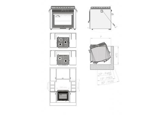 Design, Qualität und Leistung. Der hochwertige Gasbackofen RVS verfügt über drei Brenner und besteht aus robustem Edelstahl. Die Oberfläche aus thermischen, schwarzen Glas erzeugt ein optisch ansprechendes Design. Geeignet für einen festen oder halbkardanischen Einbau. (Bild 6 von 6)