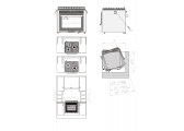 RVS Gas Oven / 3 Burners