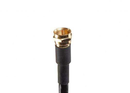 AM/FM-Anschlusskabel: F-Stecker (männlich, vergoldet) auf Motorola-/Autoradio-Stecker. Länge: 3,6 m. (Bild 3 von 3)