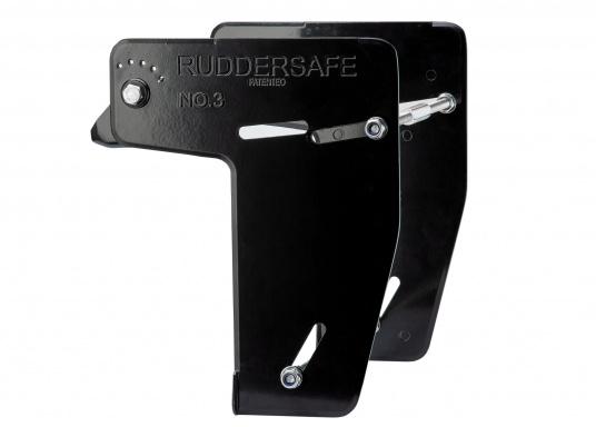 Der Ruddersafe ist in verschiedenen Größen erhältlich und verbessert die Kursstabilität bei niedrigen und hohen Geschwindigkeiten.