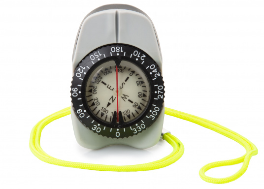 The V-FINDER handbearing compass from Autonautic features a modern, ergonomic and non-slip design that is ideal for regatta sailing and similar activities. The compass is shockproof, waterproof, even sand proof! (Image 1 of 4)