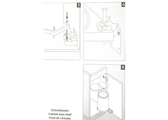 Originaler Einbauabfalleimer aus Kunststoff für Ihrer Yacht von BAVARIA.Lieferung inkl. Befestigungsmaterial.  (Bild 6 von 6)