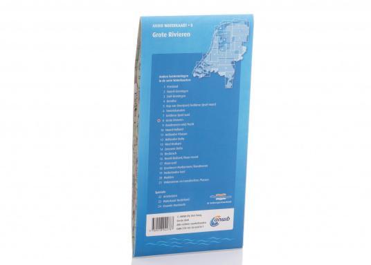 Seekarten für verschiedenen Fahrtgebiete in den Niederlanden, mit detaillierten nautischen Informationen, Brückennummern und Übersichtskarten zu den wichtigsten Häfen und Plätzen.  (Bild 19 von 19)