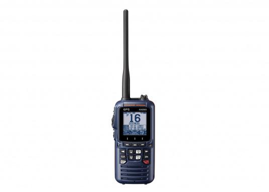 """UKW-DSC-Handsprechfunkgerät mit integriertem GPS-Empfänger. Ein robustes und ergonomisches Gehäusedesign sowie ein 2,3"""" Display sorgen für einen herausragenden Bedienkomfort. Farbe: marineblau. (Bild 2 von 3)"""