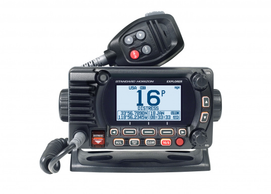 The Compact GX1850GPS Marine Radio Is Impressively Has A Large Display And Easy