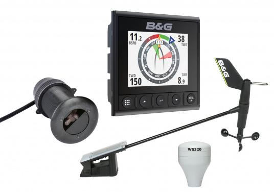 Die B&G Triton² Instrumentenanzeige ist das klarste Mehrzweck-Segelinstrument- und Autopilot-Display, mit einem 4,1-Zoll Farbbildschirm, der optische gebunden ist, um keine Kondensation zuzulassen. Im Lieferumfang ist der Durchbruchgeber DST-800 enthalten, welcher Daten zu Tiefe, Geschwindigkeit und Temperatur liefert. Zudem wird ein kabelloser Windgeber sowie ein NMEA2000 Starter-Kit mitgeliefert.