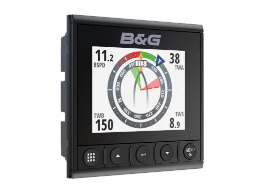 Die B&G Triton² Instrumentenanzeige ist das klarste Mehrzweck-Segelinstrument- und Autopilot-Display, mit einem 4,1-Zoll Farbbildschirm, der optische gebunden ist, um keine Kondensation zuzulassen. Im Lieferumfang ist der Durchbruchgeber DST-800 enthalten, welcher Daten zu Tiefe, Geschwindigkeit und Temperatur liefert. Zudem wird ein kabelloser Windgeber sowie ein NMEA2000 Starter-Kit mitgeliefert. (Bild 2 von 11)