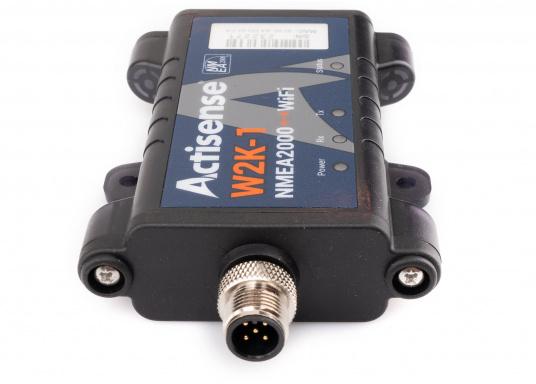 Il convertitore Actisense consente di trasmettere tutti i dati NMEA2000 in modalità wireless a un dispositivo compatibile (ad es. Tablet o smartphone). Basta collegare il convertitore alla rete NMEA2000 esistente e il convertitore si collegherà in modalità wireless tramite WiFi. (Immagine 2 di 4)
