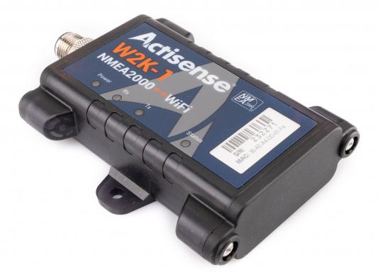 Il convertitore Actisense consente di trasmettere tutti i dati NMEA2000 in modalità wireless a un dispositivo compatibile (ad es. Tablet o smartphone). Basta collegare il convertitore alla rete NMEA2000 esistente e il convertitore si collegherà in modalità wireless tramite WiFi. (Immagine 3 di 4)