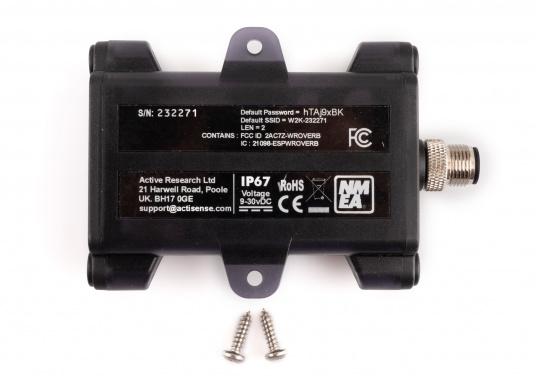 Il convertitore Actisense consente di trasmettere tutti i dati NMEA2000 in modalità wireless a un dispositivo compatibile (ad es. Tablet o smartphone). Basta collegare il convertitore alla rete NMEA2000 esistente e il convertitore si collegherà in modalità wireless tramite WiFi. (Immagine 4 di 4)