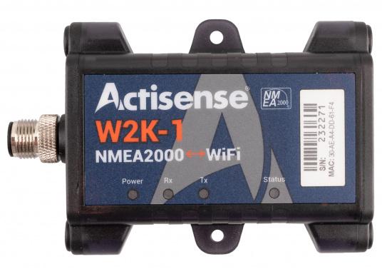 Il convertitore Actisense consente di trasmettere tutti i dati NMEA2000 in modalità wireless a un dispositivo compatibile (ad es. Tablet o smartphone). Basta collegare il convertitore alla rete NMEA2000 esistente e il convertitore si collegherà in modalità wireless tramite WiFi.
