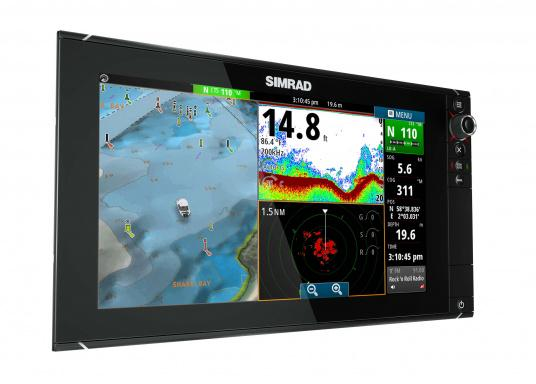 The NSS16 evo2 from SIMRAD combines an easy-to-use, 7-inch chartplotter/multifunction display with built-in GPS positioning, StructureScan® HD, CHIRP-enabled broadband sonar, and powerful expansion capabilities. Standalone in a centre console or fully integrated in a modern glass bridge, the widescreen NSS16 evo2 is well suited to sportfishing and power boats. (Imagen 4 of 10)