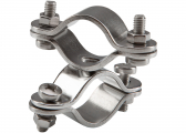 Stainless Steel Dual Clamp / for 22-30 mm tube / swivel