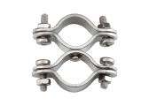 Edelstahl-Doppelschelle / für Rohr 22-30 mm / Wirbel
