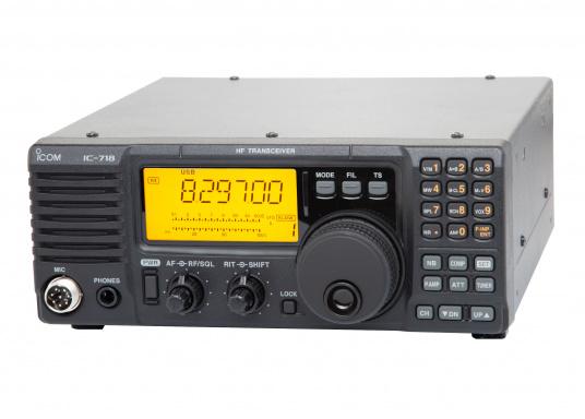 Das Kurzwellenradio IC-718 von ICOM ist der Klassiker. 100 W Ausgangsleistung sind perfekt für weltweite Funkkontakte. Das Gerät ist pactorfähig.Da es sich bei diesem Produkt um die Marine-Version des IC-718 handelt, sind die Seefunkfrequenzen bereits vorprogrammiert. (Bild 2 von 4)