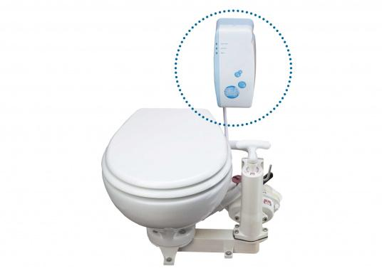 SeaSmart ist ein intelligentes und automatisches Desinfektionsmittel für manuelle und elektrische Bord-WC's, die mit Seewasser betrieben werden. Hält die gesamte Toilette inklusive Schläuche hygienisch sowie frei von Gerüchen und lässt Keimen keine Chance. Funktioniert, auch wenn Sie mal nicht an Bord sind. (Bild 6 von 7)