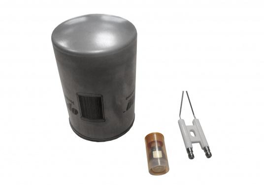 Originales Service-Kit für die Kabola Heizungen der B-Serie/B-TAP-Serie mit rot-schwarzer Brennerhaube. Das Set besteht aus einer passenden Elektrode, einer passenden Düse und einem passenden Filter. Erhältlich für vier verschiedene Heizungstypen.
