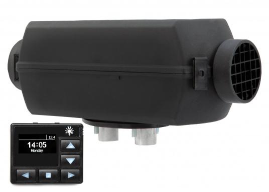 Die stabile Diesel-Luftheizung 2D DELUXE URAL EDITION von Autoterm Air ist aufgrund der kompakten Baugröße perfekt für kleinere Boote geeignet. Leistungsstufen sowie die Regelung der Temperaturen lassen sich mit der Heizung kinderleicht anpassen. Maximale Heizleistung: 1,8 kW. Spannung: 12 V.